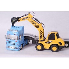 RC 1/32 Mini Trailer & Digger with Sound and Light