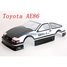 1/10 Painted RC Car Body Toyota AE86 Shell 190mm with Spoiler (A057)