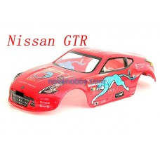 1/10 Painted RC Car Nissan GTR Body Shell 190mm with Spoiler (B044)