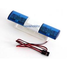 RC 1/10 Police Emergency Vehicle Flashing Light LED 360 Degree Rotation