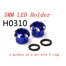 RC CNC Aluminium 5mm LED Light Holder for 1/10 Car Buggy Truck