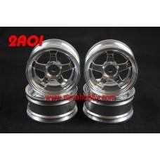 1/10 RC Car 5 Spoke 3mm Offset  Wheel Rim Set 4pcs (2A01)
