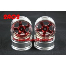 1/10 RC Car 5 Spoke 3mm Offset  Wheel Rim Set 4pcs (2A02)