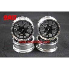 1/10 RC Car 14 Spoke 3mm Offset  Wheel Rim Set 4pcs (2A13)