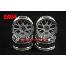 1/10 RC Car 14 Spoke 0mm Offset  Wheel Rim Set 4pcs (2A14)