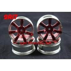 1/10 RC Car 7 Spoke 0mm Offset  Wheel Rim Set 4pcs (2A17)