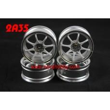 1/10 RC Car 8 Spoke 3mm Offset  Wheel Rim Set 4pcs (2A35)