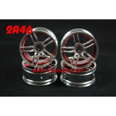 1/10 RC Car 10 Spoke 3mm Offset  Wheel Rim Set 4pcs (2A46)