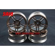 1/10 RC Car 10 Spoke  Wheel Rim Set 4pcs (5A18)
