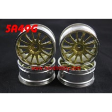 1/10 RC Car 14 Spoke  Wheel Rim Set 4pcs (5A49G)