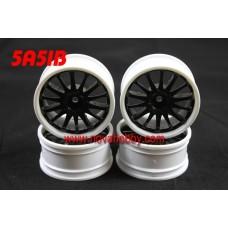 1/10 RC Car 14 Spoke  Wheel Rim Set 4pcs (5A51BK)