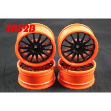 1/10 RC Car 14 Spoke  Wheel Rim Set 4pcs (5A52BK)