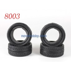 1/10 RC Car Onroad Performance Rubber Racing Tire Tyre with Sponge 4pcs 8003