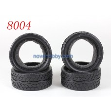 1/10 RC Car Onroad Performance Rubber Racing Tire Tyre with Sponge 4pcs 8004