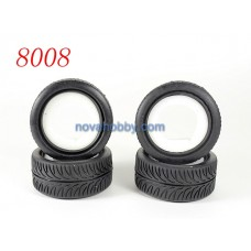 1/10 RC Car Onroad Performance Rubber Racing Tire Tyre with Sponge 4pcs 8008