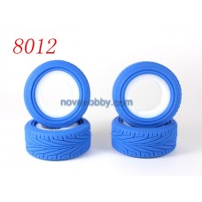 1/10 RC Car Onroad Performance Rubber Racing Tire Tyre with Sponge 4pcs 8012