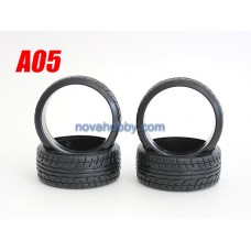 1/10 RC Car Onroad Hard Rubber Drift Tire Set 4pcs (A05)