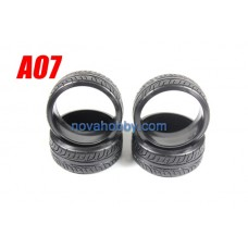1/10 RC Car Onroad Hard Rubber Drift Tire Set 4pcs (A07)