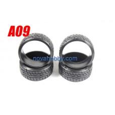 1/10 RC Car Onroad Hard Rubber Drift Tire Set 4pcs (A09)