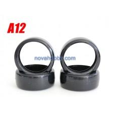 1/10 RC Car Onroad Hard Rubber Drift Tire Set 4pcs (A12)