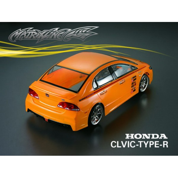 1 10 honda civic type r 195mm rc car transparent body. Black Bedroom Furniture Sets. Home Design Ideas
