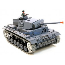 1/16 RC Henglong Smoke & Sound German Panzer III Tank Premier Metal Version