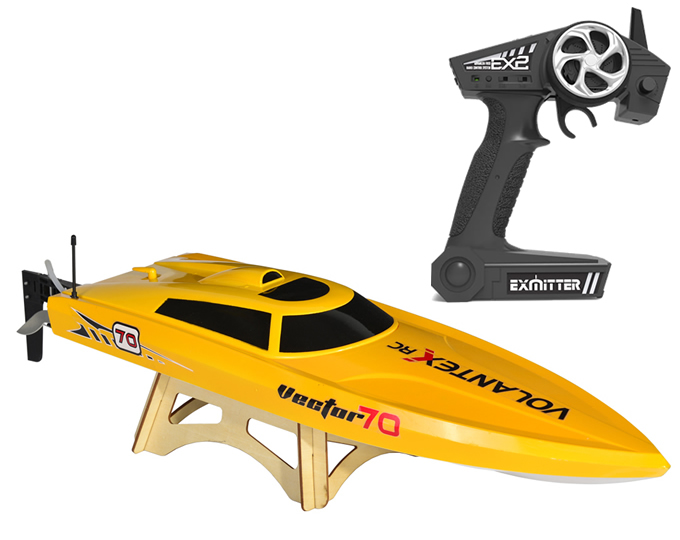 RC RTR 2.4G 2CH Brushless Vector 70 High Speed Racing Boat