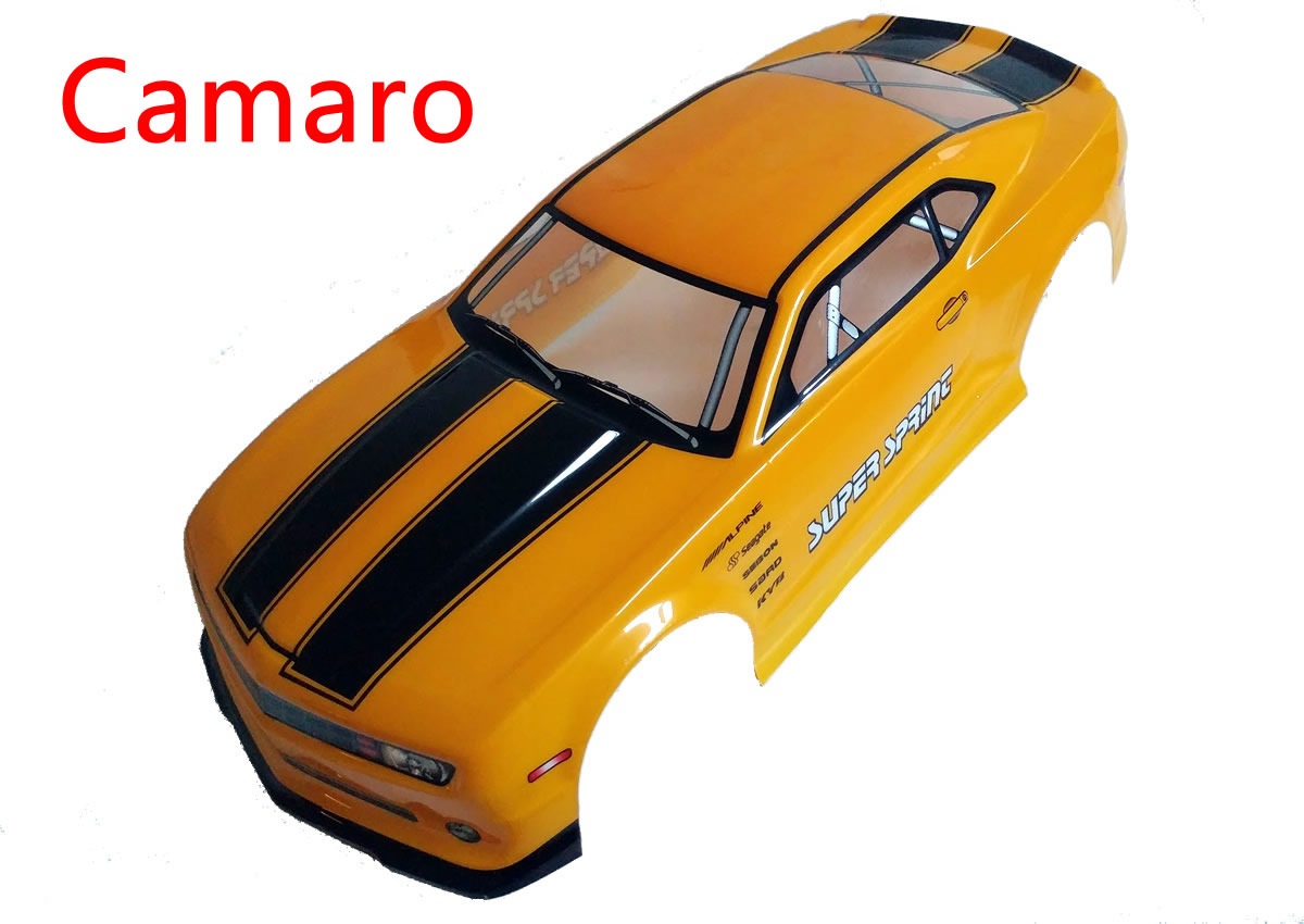 Novahobby 1//10 Scale RC Printed Precut Drift Racing Touring Onroad Car Body Shell Width 190mm with Wing Mirror Accessories Yellow Black Stripe